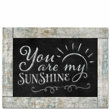 Framed Wooden Chalkboard Sign Wall Plaque YOU ARE MY SUNSHINE Cottage