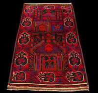Genuine, Original Pure Wool Rug Rustic Handmad Carpet CM 165x96