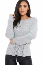 Front Acrylic Long Sleeve Jumpers & Cardigans for Women