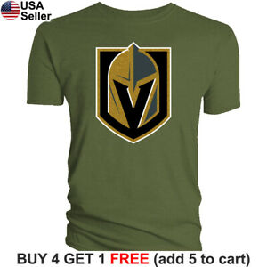 Las Vegas Golden Knights T-Shirt Logo Men Cotton LVGK VGK