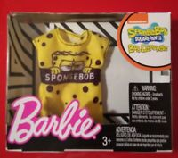 Barbie Fashion Doll New Spongebob Squarepants Shirt Top Yellow Black