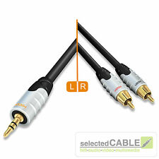 HICON Ambience 3,5mm Klinke <-> Stereo Cinch Cable 3m Kabel RCA | HIA-C2J3-0300
