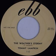 TOMMY LAMPKIN: The Weather's Stormy EBB DJ Promo R&B Blues 45 Hear