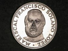 PARAGUAY 1973 150 Guaranies Lopez Silver Crown Proof