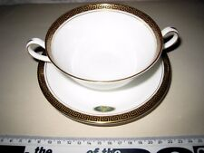 Soup Bowl + plate Aynsley Legend Black Fine English bone china Made in englandd 4