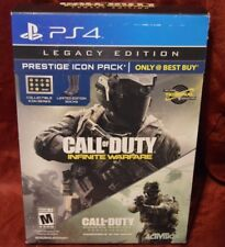 PS4 Call of Duty Infinite Warfare LEGACY Edition Prestige ICON pack NEW Sealed