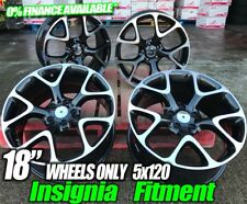 VAUXHALL INSIGNIA VXR STYLING ALLOY WHEELS BLACK POLISHED 18 INCH