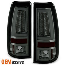 2003-2006 Chevy Silverado GMC Sierra 1500 2500HD 3500 Smoke LED Tube Tail Lights