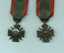A miniature of the WWII FRENCH CROIX de GUERRE 1939-40