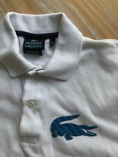LACOSTE Men's Blue, Green  & White  Short Sleeve Polo LOGO Size EU 3 Small