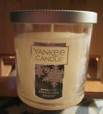 Yankee Candle Sparkling Snow 7 Oz Jar Candle NEW never lit (no box) winter