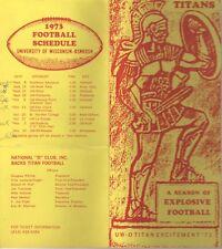 Great 1973 University of Wisconsin Oshkosh Titans Football schedule Order Form