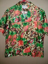 Vtg Mens sz L Jayshire Hawaiian button Down shirt no iron