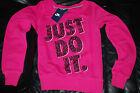 NEW Women's Nike Just Do It Pink Sweatshirt Medium