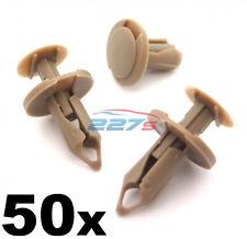 50x 8mm Lungo Beige/Marroncino Bordo clip- VW T4 & T5 Tappetino & Furgone