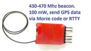Ham radio UHF beacon for find lost pets, RC models, test receiver and antenna.