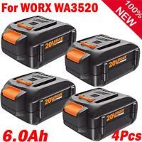 4-Pack 6000mAh Lithium Battery  for WORX WA3520 20 V WA3525 WA3575 WA3578 WG163