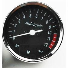 NEU Roller Motorrad Analog Drehzahlmesser 12000RPM Blinker LED für Suzuki GN125