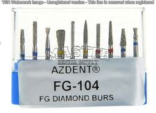 Dental Diamond FG 104 10/Burs Kit Specially Designed for Inlay Preparation Bur