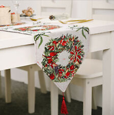 Christmas decorations, knitted cloth table runner, type B