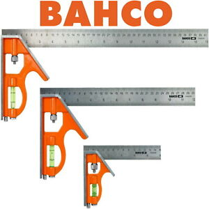 BAHCO Combination Set Square Stainless steel rule Choice Of 150mm, 300mm & 400mm