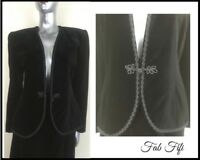 Country Casuals Black Velvet Suit 2 Piece Jacket & Skirt Matching  Formal 10