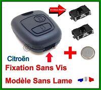 Coque Clé  Plip 2 Boutons Pour Citroen Xsara Picasso Berlingo + Pile + 2 Switch