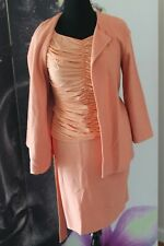 St John 3 Piece Blazer Shirred Blouse & Pencil Skirt Suit JT01 Spring 2012 Orang