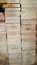 Wooden Crates Wine Fruit Apple Boxes Vintage Home Decor Cleaned