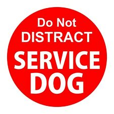 Red Do Not Distract Service Dog Sticker Bumper Car Truck Travel 10cm - 4inches