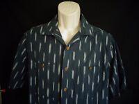 Woolrich Gray White short sleeve shirt men's L