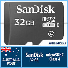 SanDisk 32 GB 32G Micro SD SDHC Class 4 Memory Card TF mobile SDSDQM HD Tablet