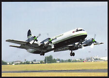 Aircraft Air Atlantique Electra at Coventry Airport Modern Postcard Aviation PC