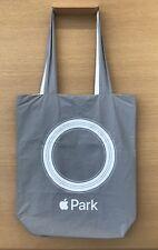 New Apple Park Logo Tote Bag Grey / White   Logo Launch Shopping New Box