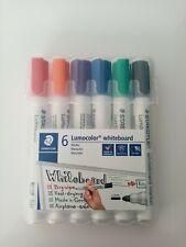 Staedtler Lumocolor 351 WP6 whiteboard-marker (ronde punt ca. 2 mm lijnbreedte