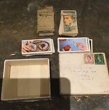 UNIQUE SMALL BOX OF CIGARETTE CARDS / GOOD CONDITION
