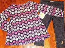 JUICY COUTURE TODDLERS/KIDS GIRLS BRAND NEW 2Pc DRESS LEGGING SET Sz 2T, NWT