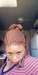 Fully Hand Braided whole box braids paka tail cornrow wig