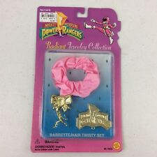 1995 Power Rangers Toy Biz Radiant Jewelry Collection Barrette/Hair Twisty Set