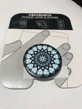 PopSockets Single Phone Grip PopSocket Universal Phone Holder Mandala Blue
