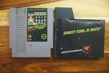 Donkey Kong Jr. Math Manual NES Nintendo 5 Screw Black Label Authentic near MINT