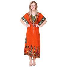 New Orange Kaftan~Boho Hippy Plus Size Casual Dress~Beach Cover Up~African dress