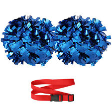 "EcoNut Cheerleading Pom Poms with Baton Handle & Strap Holder (6"" Metallic)"