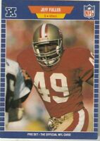 FREE SHIPPING-MINT-1989 Pro Set Jeff Fuller #376 49ERS PLUS BONUS CARDS