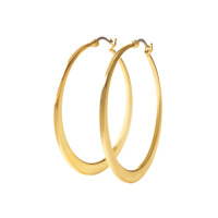 Origami Owl Gold 45mm Flat Hoop Earrings