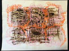 Art abstrait technique mixte contemporaine anonyme