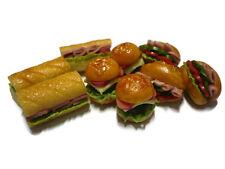 9  Fast Food  Burger Sandwich Dollhouse Miniatures Food Supply Deco