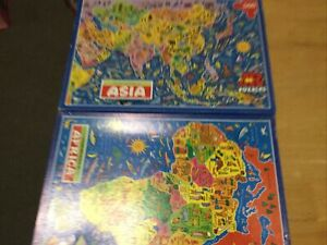 JR MAP JIGSAW PUZZLES AFRICA + ASIA  500 PIECE COMPLETE