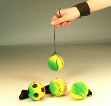 4 x Returnball große Springbälle 4 cm am Band mit Handmanschette Jojoball