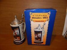 Anheuser-Busch Budweiser Beer Stein: St Louis Brew House Mosaics 1893 Columbia